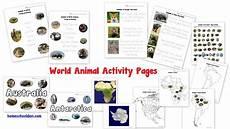 animal world worksheets 14372 animals around the world montessori 3 part cards homeschool den