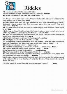 riddle worksheets high school 10914 59 riddles worksheet free esl printable worksheets made by teachers school answers