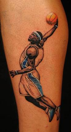 delightful collection of basketball tattoos ideas