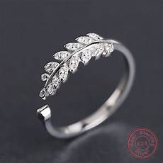 real 925 sterling silver ring for new design leaves