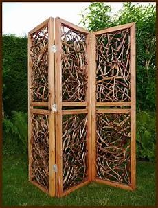 Paravent Für Garten 3 Teiliger Paravent Massiv Holz Raumteiler Deko Garten