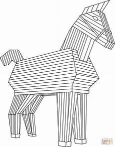dibujo de caballo de troya para colorear dibujos para