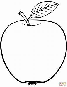 apple coloring page free printable coloring pages