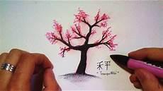 fleur de cerisier dessin comment dessiner un cerisier japonais tutoriel