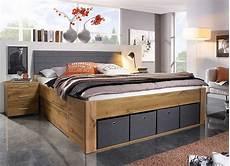 funktions bett funktionsbett in eiche dekor und grau kaufen bei