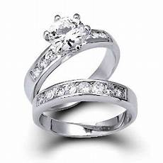 silver vintage style cz engagement wedding ring 1 5ct