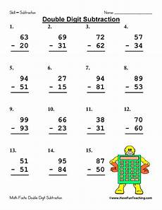digits addition and subtraction worksheet digit subtraction worksheet teaching