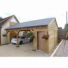 garage 2 places 2 bay carport with 1 2 bay store post beam green oak