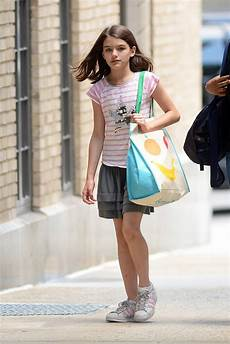 suri cruise in pink striped adidas superstar sneakers in new york footwear news