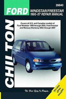 free online auto service manuals 2006 ford freestar electronic throttle control 1995 2007 chilton ford windstar freestar repair manual 1563928094 ebay
