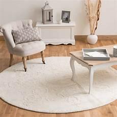 tappeto rotondo tappeto rotondo ecru in a pelo corto d 200 cm