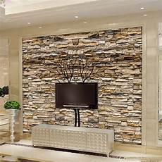 3d brown stone wall photo wallpaper custom mural home or