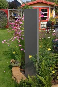 Garten Stelen Metall - stele sichtschutz schmal 180 x 20 x 4 cm aus metall