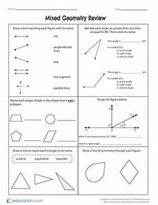 geometry revision worksheets 871 geometry review angles and polygons worksheet education
