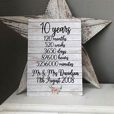 Tenth Wedding Anniversary Gifts For 10th wedding anniversary gift wedding anniversary gift tin