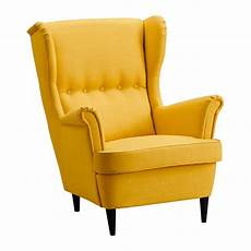 yellow wingback armchair lolliprops event prop