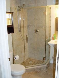 Small Bathroom Ideas With Corner Shower by Tiled Corner Shower Except With Pennies On The Floor Of
