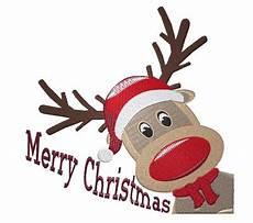 merry christmas rudolph embroidery design annthegran