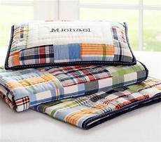 madras toddler quilted bedding pottery barn kids