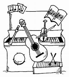 Malvorlagen Instrumente Musik Ausmalbilder Instrumente Calendar June