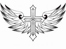 free printable cross with wings coloring pages for adults google search coloring pages