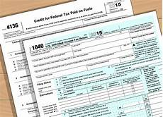 how to prepare irs form 4136 with form wikihow