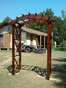rustic arbor plans rustic wedding arch do it