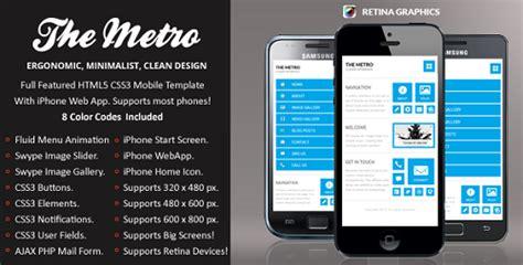metro mobile premium wordpress mobile template themeforest