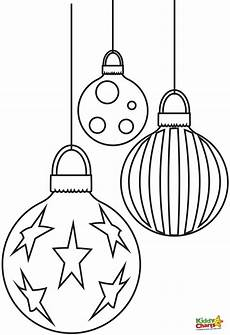 baubles free coloring pages from kiddycharts