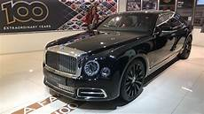 exclusive bentley mulsanne w o edition wafts in car