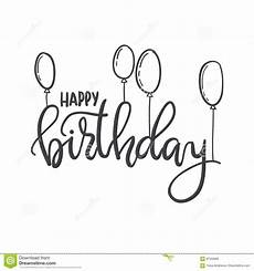 happy birthday lettering typography template for