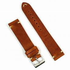 20mm Leather Band by 20mm Cognac Classic Vintage Leather Band B R Bands