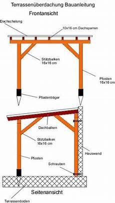 terrassenüberdachung selber bauen anleitung terrassen 252 berdachung bauanleitung mit bauplan