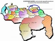 ubicacion de los simbolos naturales en el mapa de venezuela estado sucre mapa mental