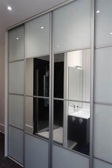 portes coulissantes en verre laqu 233 blanc et miroirs