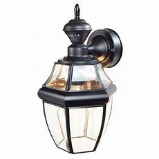 shop secure home basic 14 1 2 in h black motion activated outdoor wall light at lowes com