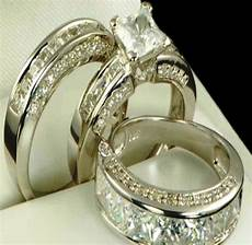 camo wedding ring sets for him and