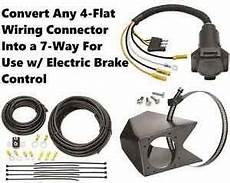 universal 4 flat to 7 way wiring converter kit for use w electric brake control ebay
