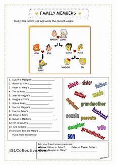 english 4 kids connect level 2 family vocabulary worksheet