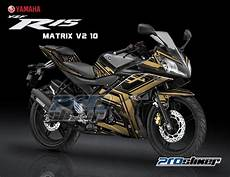 R15 V2 Modif by Stiker Motor Modifikasi R15 Midnight Black Motif Matrix V2