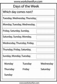 worksheets days of the week months of the year 18238 days of the week 1 worksheet free printable worksheets worksheetfun