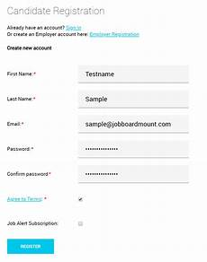 seeker registration login profile editing jobmount