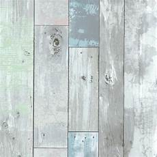 tapete holzoptik verwittert dean blue distressed wood panel wallpaper rustic