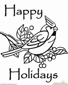 happy summer holidays coloring pages printable 17614 happy holidays coloring page bird coloring pages coloring pages bird drawings