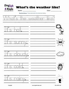weather tracing worksheets 14689 weather writing page 001 worksheets kindergarten and school