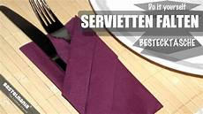 servietten falten besteck servietten falten anleitung bestecktasche diy napkin
