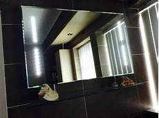 Bathroom Mirror With Shaver Point And Shelf by Hib Aztec Led Bathroom Mirror With Glass Shelf And Shaver