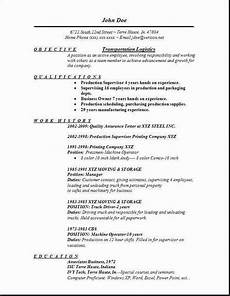 transportation logistics resume innovation at its finest resume objective sle resume