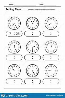 telling time telling the time practice for children time worksheets for learning to tell time