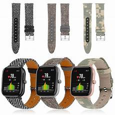 Bakeey Canvas Leather Band Amazfit by Bakeey 20mm Universal Camouflage Canvas Band